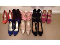 8 Pairs Of Size 7 Heels - Bulk Lot - Various Brands