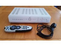 Sky plus box with power lead and remote control