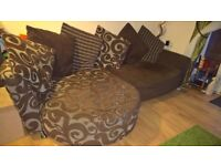 Free three seater lounger sofa Collection Only - taken as seen