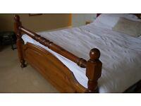 King Size Pine bed frame.