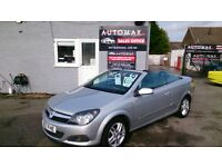 2007 CONVERTIBLE VAUXHALL ASTRA TWINTOP 1.6 SPORT SILVER OCT MOT ONLY 78K NEW SERVICE ALLOYS CD E/W