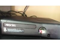XBox 360 250gb with kinect and pile of games including Minecraft