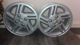 Pair XR3 Alloy Wheels Never Used