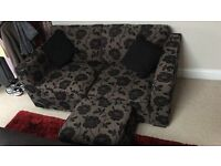 Two Seater Sofa with Matching Storage Foot Stool