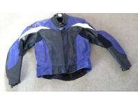 Leather motor bike jacket, to fit youth or small ladies