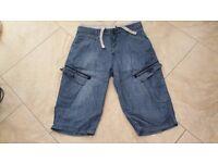 mens mckenzie long jean shorts