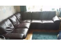 Leather Corner Sofa in Macclesfield for sale £300 ono
