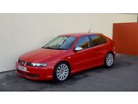 2005 SEAT LEON 1.8 TURBO FR RED NATIONWIDE DELIVERY CREDIT CARD FACILITY GURANTEED £200 PX VALUE