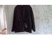 XL Black Leather Coat