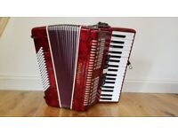 Stephanelli 96 Bass Piano Accordion (with hardcase & softcase)