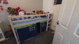 Childrens cabin bed with tent
