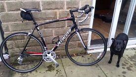 SPECIALIZED ALLEZ ROAD BIKE , ALLOY FRAME ,CARBON FORKS GREAT CONDITION