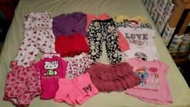 Girls summer bundle of clothes 2-3y