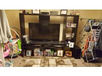 Solid Ikea tv unit in black