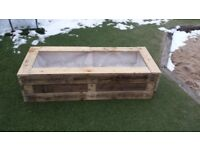 Extra large garden planter / plant pot - for flowers or vegetables or allotment - upcycled pallets