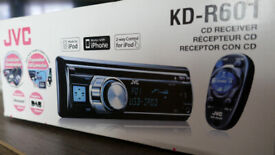 In car CD mp3 USB radio JVC KD-R601 nearly as new