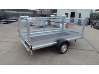 Trailer 10x5 with mesh sides single axle 750kg