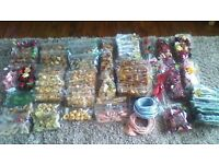 JOB LOT OF SILK AND DTIED FLOWERS AND LEAVES..FLORIST RIBBON,POT POURRI..PRICED TO SELL,REAL BARGAIN