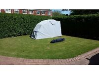 Motorcycle cover/shelter large in very good condition