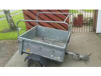 3ft by 4 ft Galvanised car trailer not ifor williams or erde