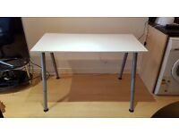 Height adjustable table/desk (white)