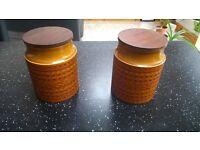 "Retro Hornsea ""Saffron "" Storage Jars"