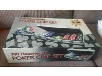 Poker chip set boxed new