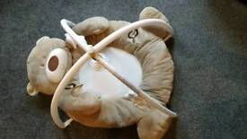 Teddy Bear Gym. Like new! Great for babies to lie and play while you tidy up/have a coffee.