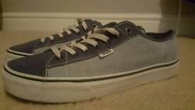 Mens Vans trainers size 9 blue white