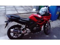 Cbr 125 very good bike only sell because I've just past my test