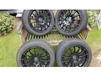 "Fox Racing 15"" alloy black wheels"