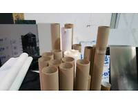 Cardboard tubes and wax paper