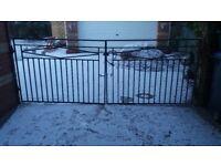 Wrought iron garden/ driveway gates