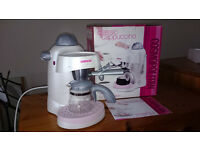 White & Pink Coffee Maker (slightly used)