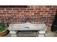 Cast iron window boxes and flower stands