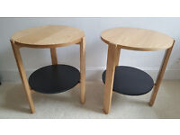 Two Umbra 'Hub' Side Tables - Black/Natural RRP £100 each