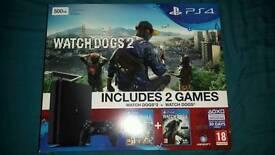 PS4 Slim watchdogs 2 bundle
