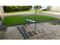 York Weights bench and 100kg weight