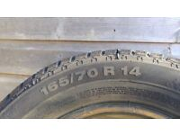 4 Winter Tyres 165/70 R14 (almost new)