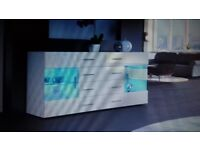 Brand new modern sideboard with led lights