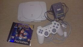 PlayStation One with Harry Potter and The Philosophers Stone Game