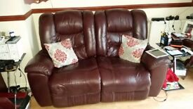 2X 2 seater recliners and rocker/recliner chair