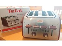 Tefal TT7705UK Maison 4 Slice Toaster Extra Wide Slot 1700W-Red
