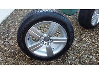 AUDI TT ALLOY WHEELS X4 WITH PIRELLI P7 TYRES WITH 7MM TREAD REMAINING