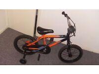 "Boys 16"" orange/black Urban Racers bike"