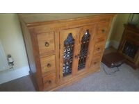 Sheesham Wood Side Table/Cabinet