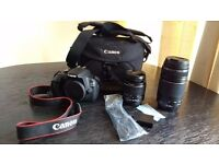 Canon EOS 1200D DSLR with18-55mm and 75-300 mm lenses for Sale !!