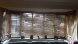 3 SETS OF WOODEN BLINDS ALL COMPLET AND IN VERY GOOD CONDITION