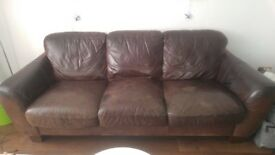 Free leather sofa. Mary Christmas