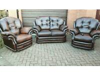 Thomas Lloyd LEATHER ELECTRIC RECLINER SUITE. IMMACULATE CONDITION! AS NEW! BARGAIN!